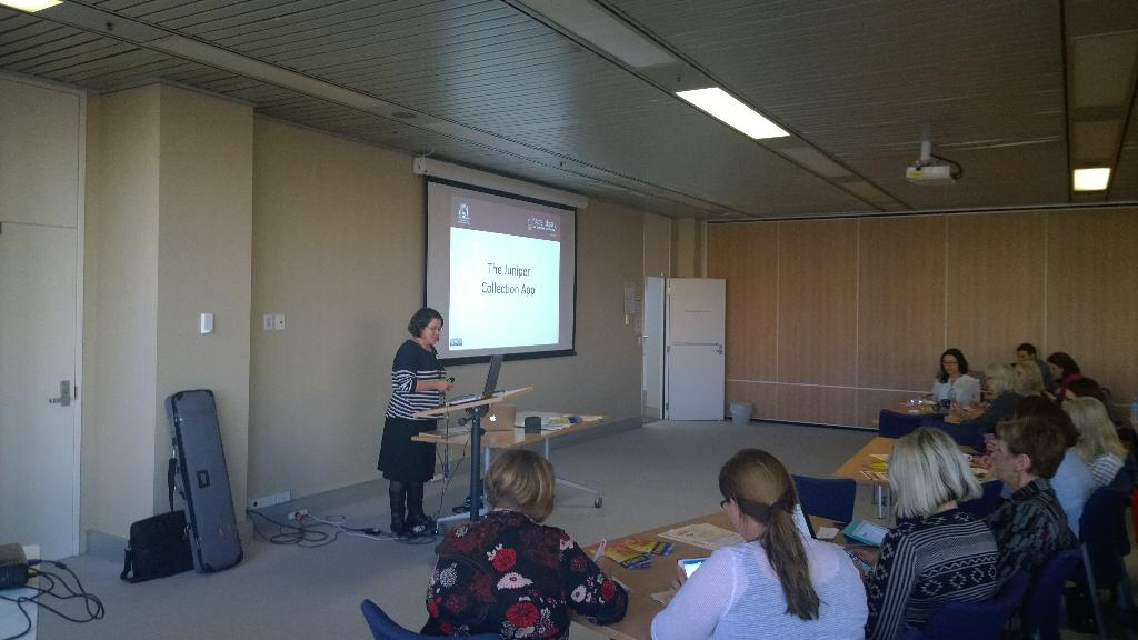 #tmwa Debra from State Library talking about Juniper App http://t.co/Py73GDZs7I