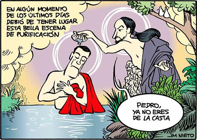 Pedro Sánchez el ungido por el mesías Pablo Iglesias