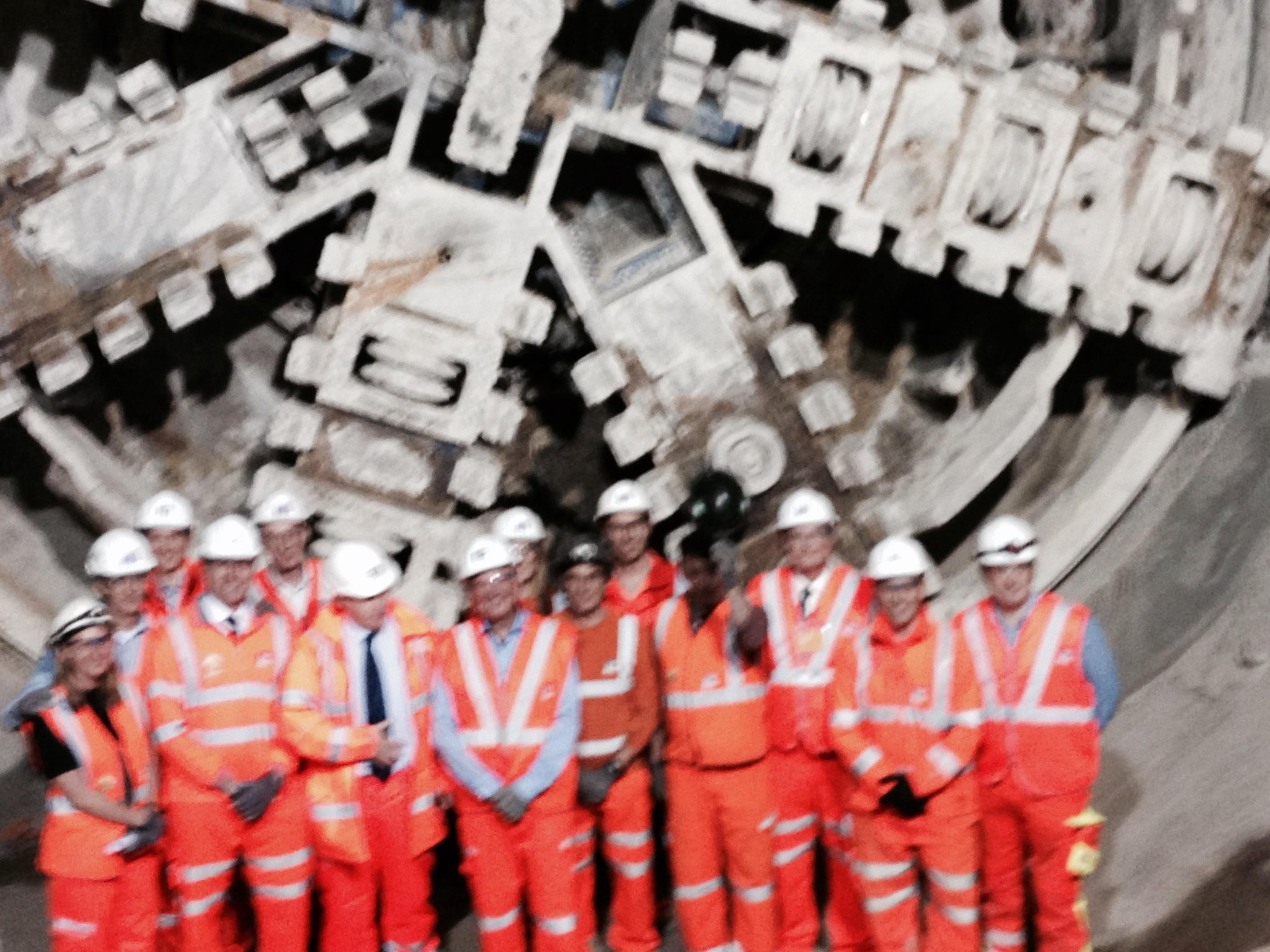 Great to meet those working on @Crossrail - Europe's largest infrastructure project which remains on time & on budget http://t.co/O8uD4AXz9W
