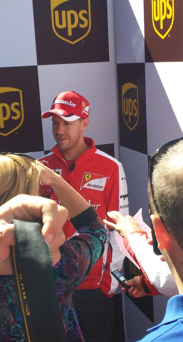 #Seb5 is wrapping up for the day with some some media time at our special UPS Access Point location #ForzaUPSCan http://t.co/5Gg2lyEALA