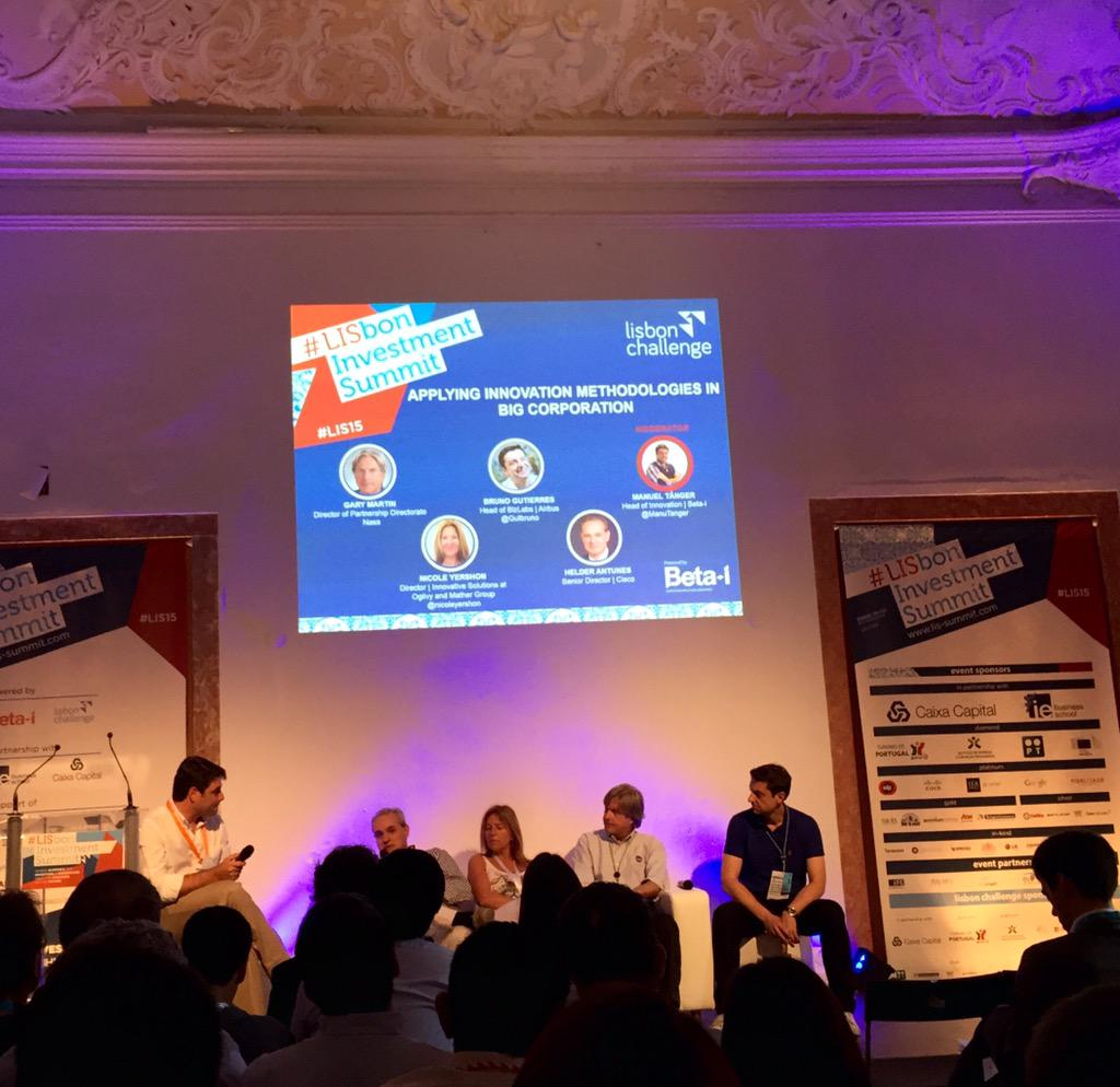 Great panel to talk about innovation! @Cisco @Ogilvy @NASA @Airbus #LIS15 http://t.co/xn3uf3IPFV