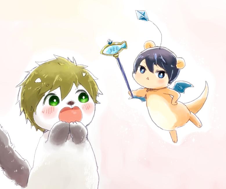 (..°ㅅ°..)わぁっ! (ㅎㅅㅎ)クポポ〜〜!サバの妖精クポ。 (..°ㅅ°..)えっと…?? (ㅎㅅㅎ)クポッ。(ぷすっ) (..>ㅅ<..)わぁっ!  (ㅎㅅㅎ)…という夢を見た。