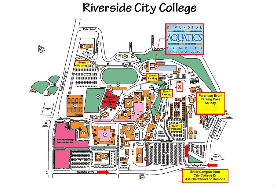 Riverside City College Campus Map.Parking Map For Usa Serbia Tonight 7 30pm In Riverside Sellout