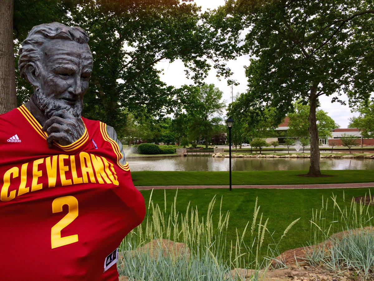 """I don't think the @warriors are ready for us."" - UMU's founder Orville Hartshorn. #MountUnion is #ALLinCLE! http://t.co/V0b8RUoFmm"