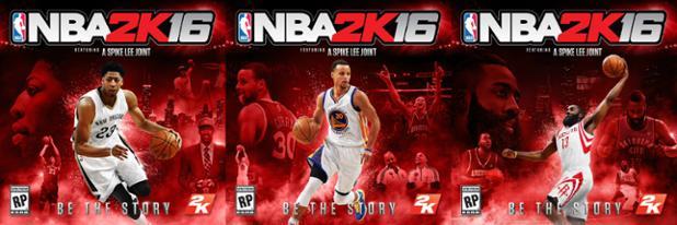 NBA 2k16 covers