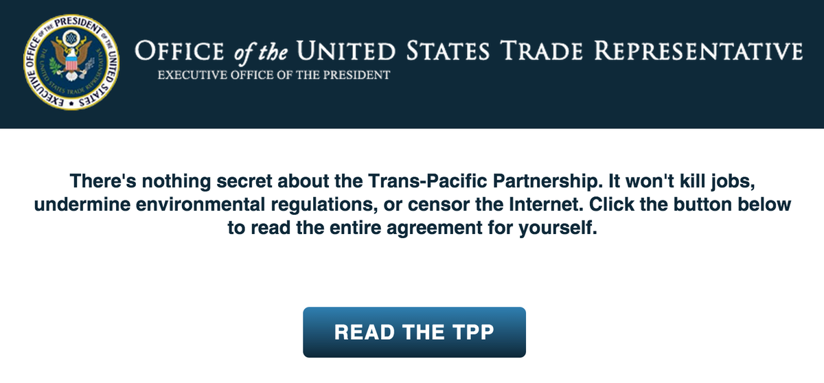 BREAKING: Someone posted the full text of the #TPP online Retweet to spread it! http://t.co/5x1kP1R6em http://t.co/39weW7PXyX via @IDLtweets
