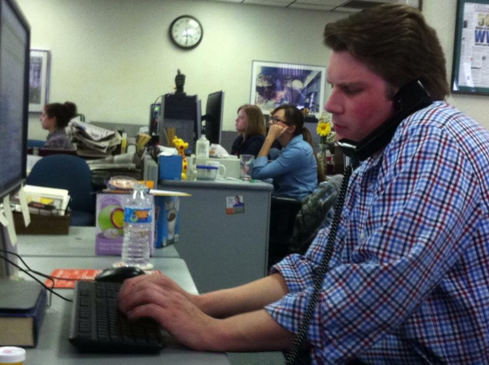 @jaredwv on his last phone interview. At 4:30, natch. http://t.co/k5civ6ezIG