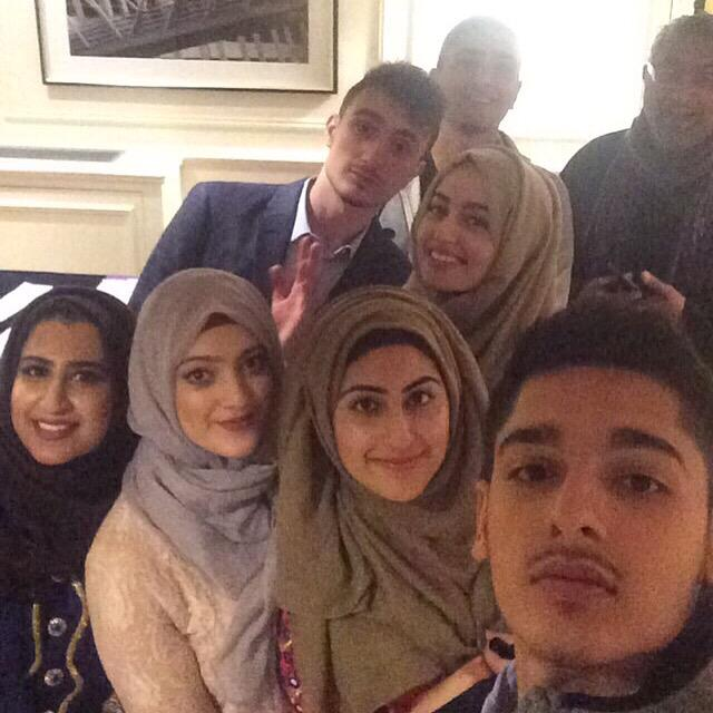 Group selfie with @FatihSeferagic at #WelcomeRamadan event in Edinburgh for #HumanAppeal - was lovely meeting you! http://t.co/J0wLb1P9EZ