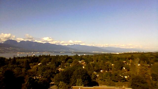The view from my window. Jealous? #DSNASHEL #Vancouver #UBC #mountains http://t.co/oKsyib6MEX