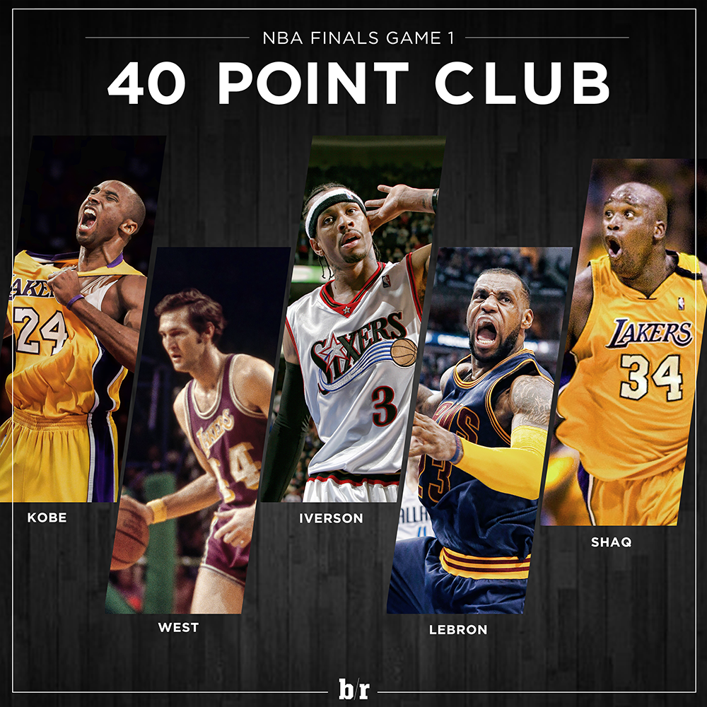 Only 5 Players Have Scored 40+ Pts In Game 1 Of Nba Finals