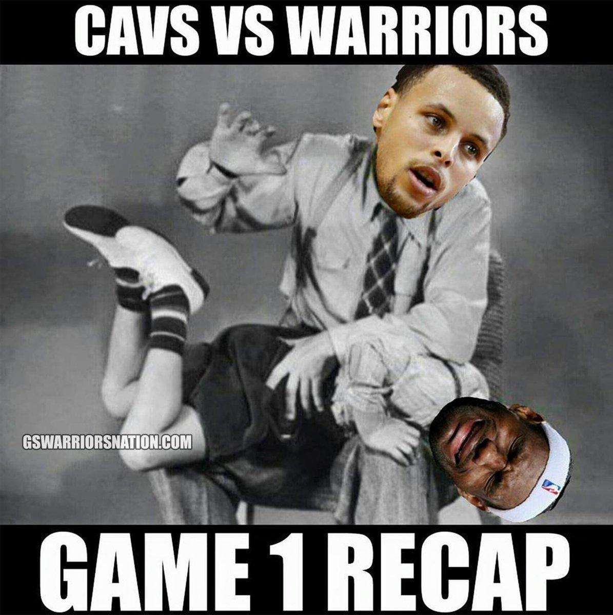 a6da6f02f467  NBAFinals Game 1 RECAP  Sorry LeBron James.  Warriors   Cavspic.twitter.com SYUU4uOXuy