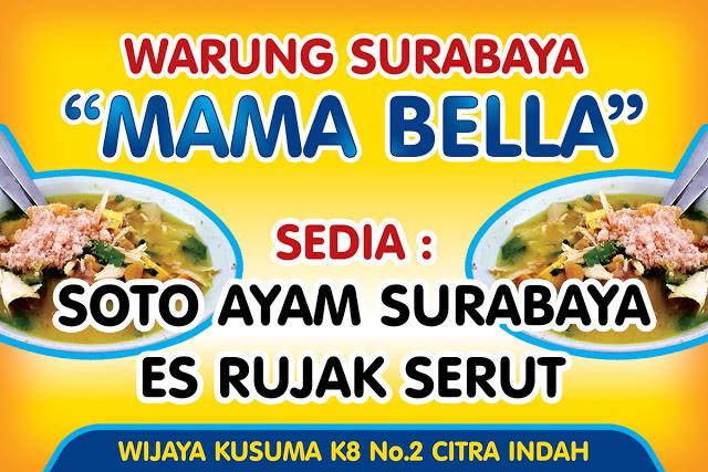 Asha Creative Design On Twitter Contoh Desain Banner Soto Surabaya