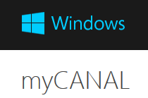 mycanal windows 8.1