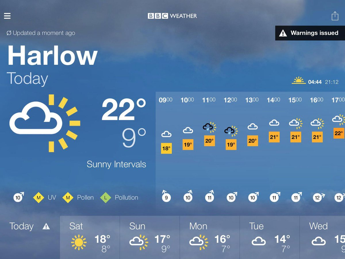 Natalie Christie On Twitter Bbc Weather Forecast For Harlow Come On Sun Too Many Outdoor Activities For Aspire Day Today T Co Hyh6ym1rtt