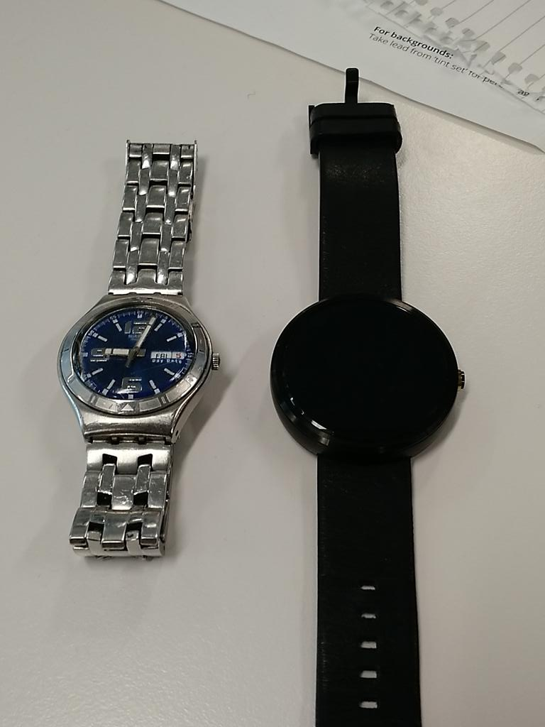 My regular watch and the Moto 360