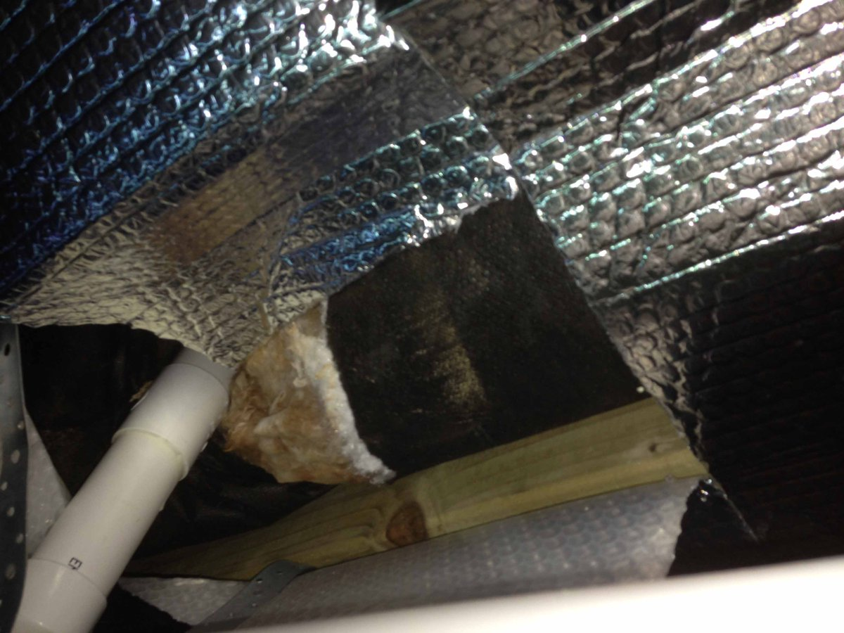 Park Home Mole On Twitter More Underfloor Insulation Cowboy Work If Theyre Using Double Bubble Foil Its A Con