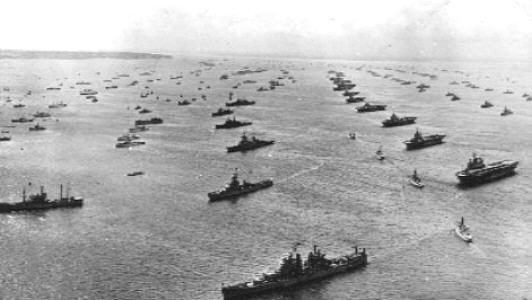 Invasion fleet  D Day Normandy