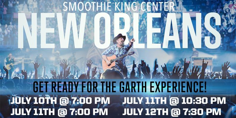 @garthbrooks will play 4 shows in New Orleans this July! #GarthInNewOrleans http://t.co/YKMoVDEdMX
