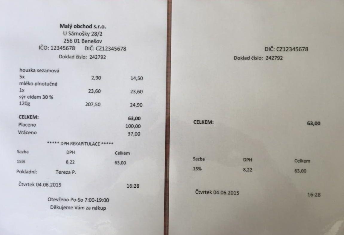 Andrej Babis On Twitter Eet V Praxi Vlevo Uctenka Pro Zakaznika