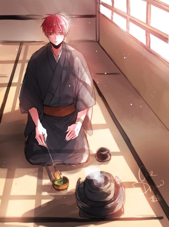 茶道を楽しむ赤司征十郎