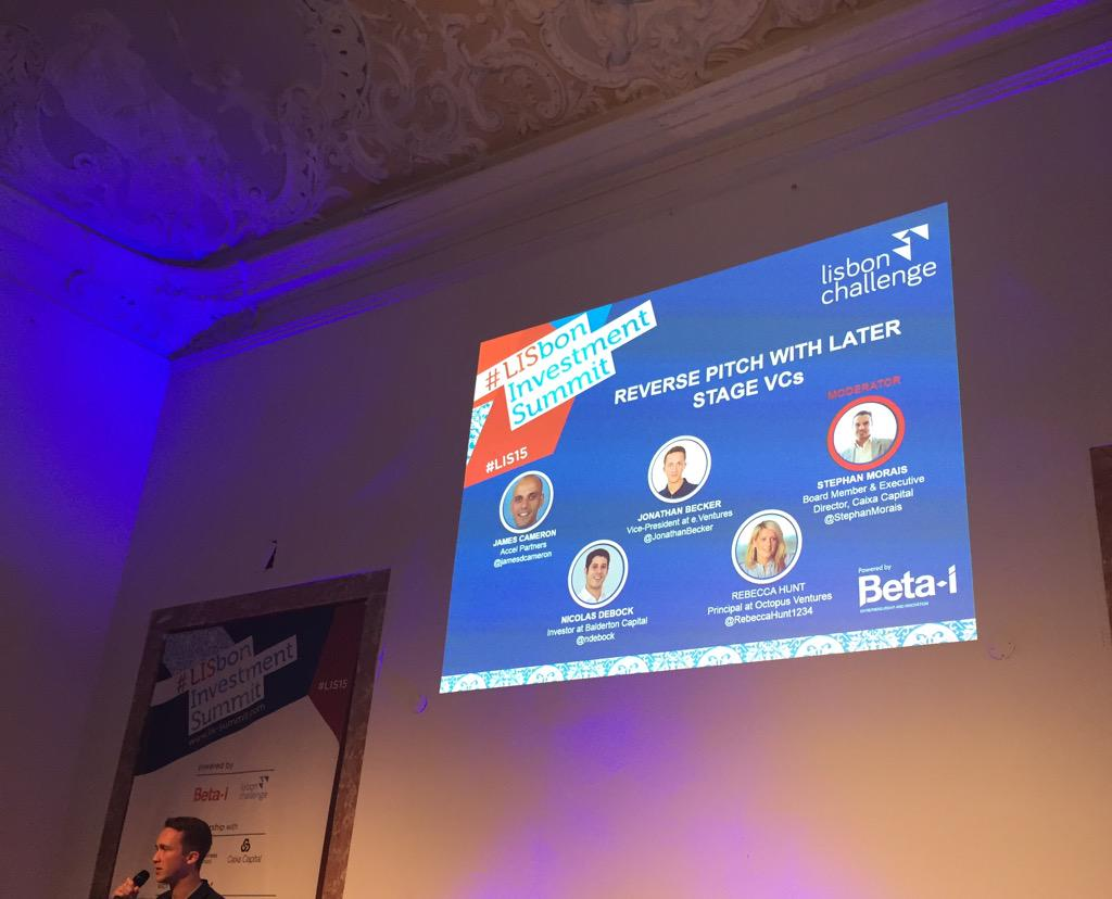 Time for reverse pitching, our opportunity to grill the VC's! #LIS15 http://t.co/9JPKfw53Jg