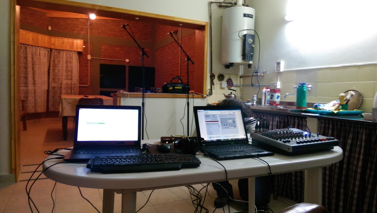 Here's the view from the engineer's perspective in the house where one half of the duet will take place in one hour. http://t.co/QD51gIFfu0