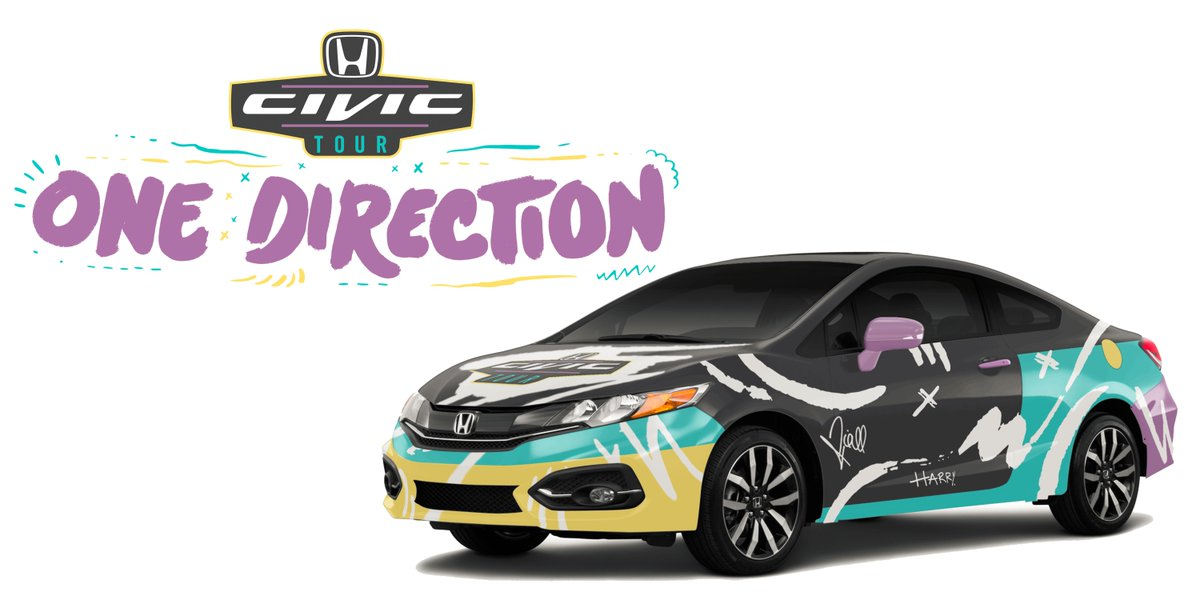 US Fans! Check out the @Honda Civic that 1D customized and signed for 2015 #HondaCivicTour! #ad