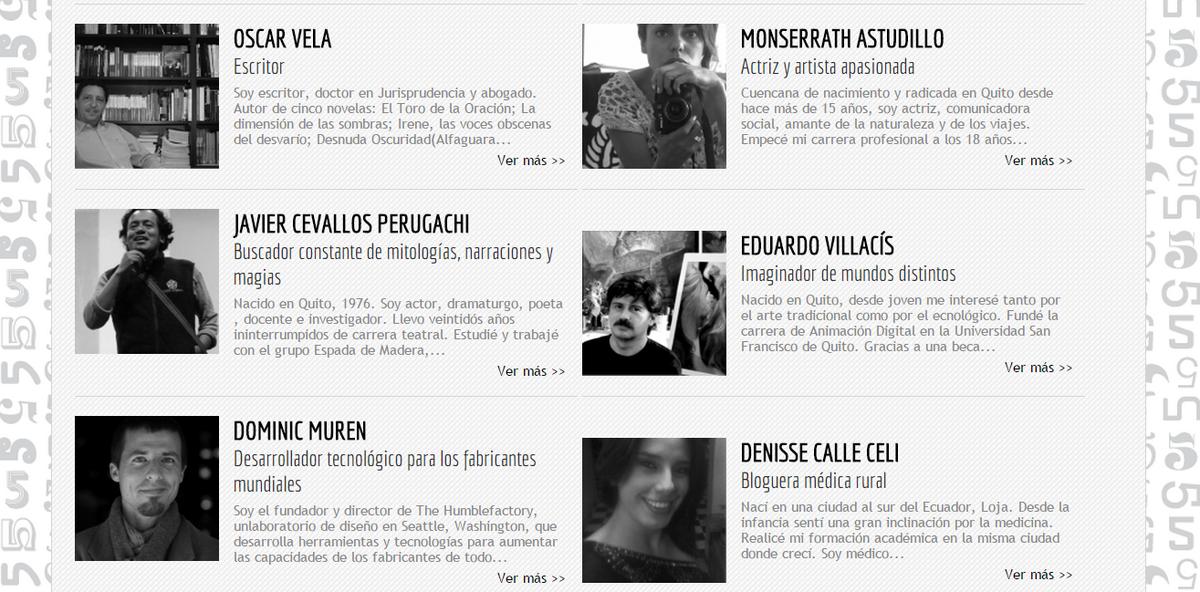 Speakers TedxQuito 2015: @monse_astudillo @Eduardo_V @JCevallos @dmuren @niches13 @Oscar_V  http://t.co/G4o3YVjsvL http://t.co/fQymhzWVRQ