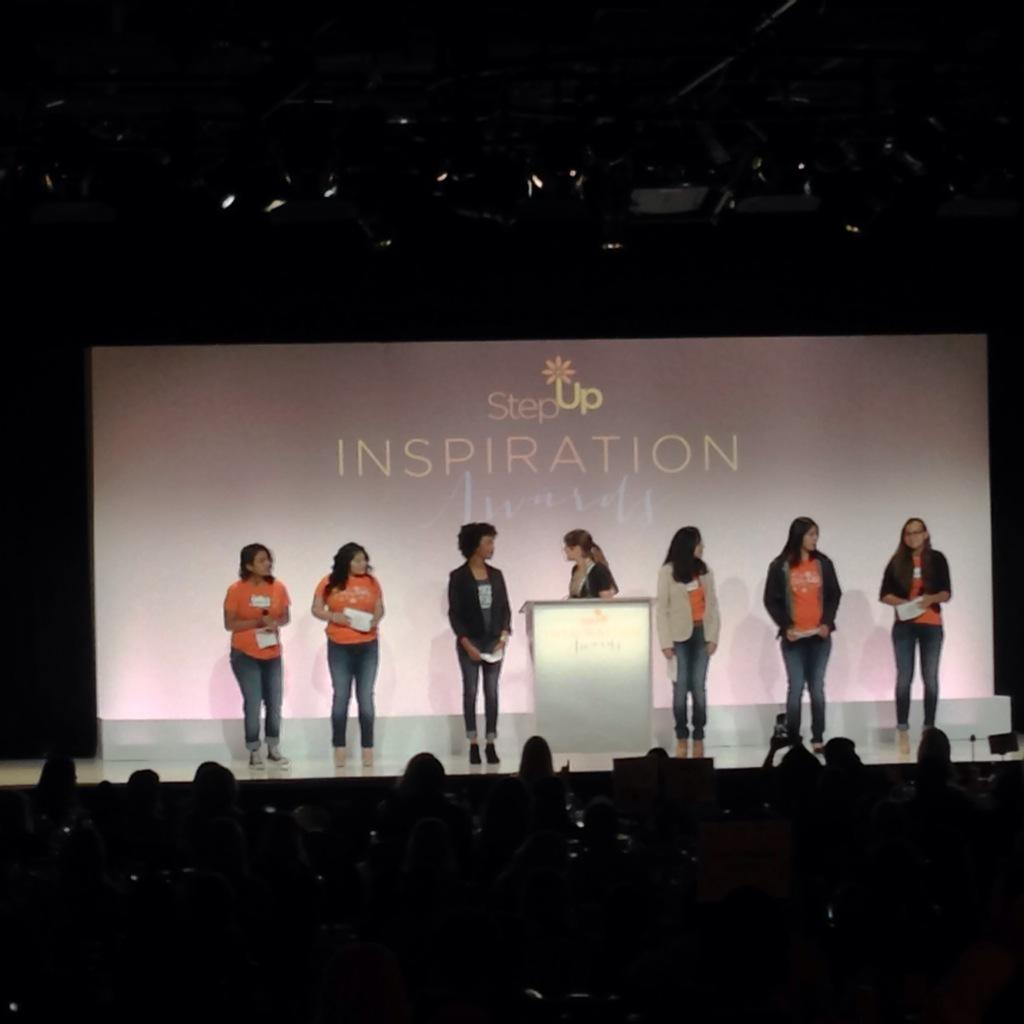 Step Up teens and @msleamichele on stage at #InspirationAwards! http://t.co/fIVyuzfwP2