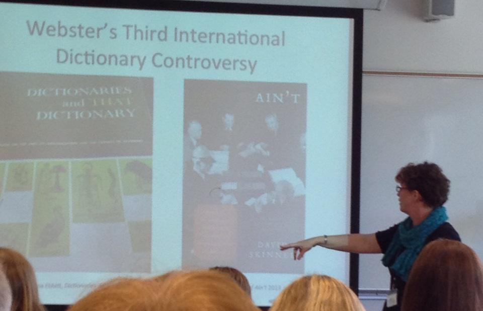 Melinda Menzer teaches a course on prescriptivism at Furman w/ @EditorSkinner's book. #DSNASHEL #DSNA2015 http://t.co/mvjR06pHOA