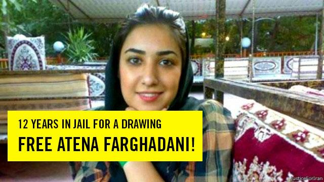 RT @amnesty: 12yrs in prison for a cartoon critiquing contraception laws? Release Atena! @khamenei_ir
