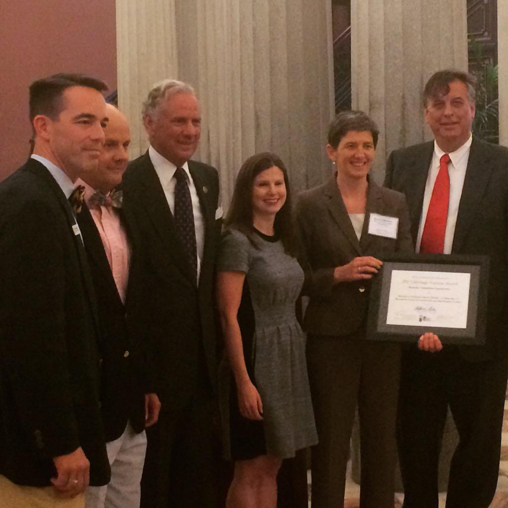 We are thrilled to receive the 2015 Historic Preservation Heritage Tourism Award at the State House today! http://t.co/U2ggb0L7bf