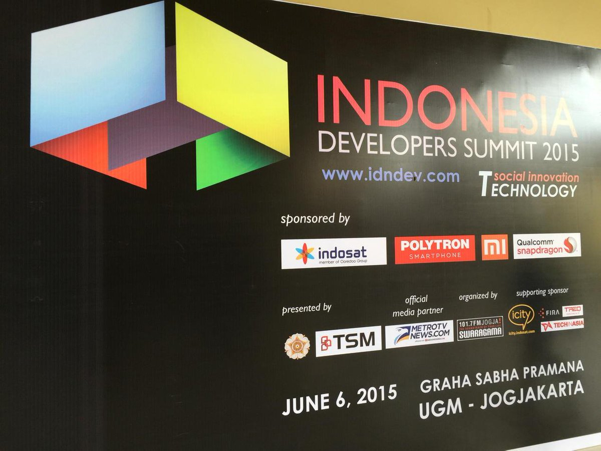 First in Indonesia, now developer have summit. Go Global go go http://t.co/HpYA7ksjwX