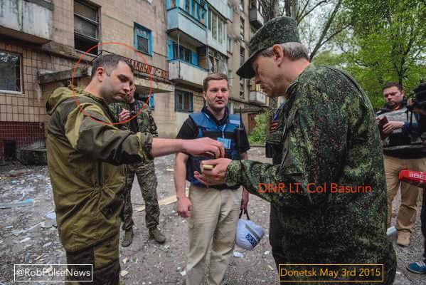 "Sergei Zhuk with DNR ""Deputy Defense Minister"" E А Basurin"