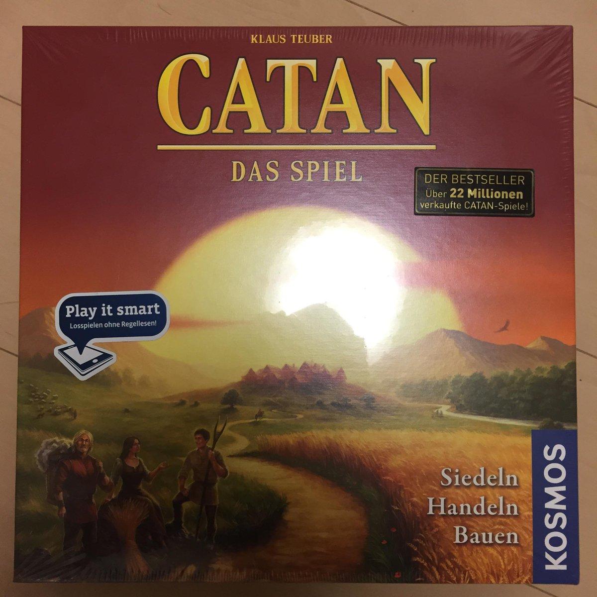 """今年はカタンが誕生してから20年。ドイツのパッケージは全て刷新され、タイトルも""""Die Siedler von CATAN"""" から """"CATAN""""にな りました。各国語版も順次切り替わっていくでしょう。 http://t.co/Vw47jsBcXD"""