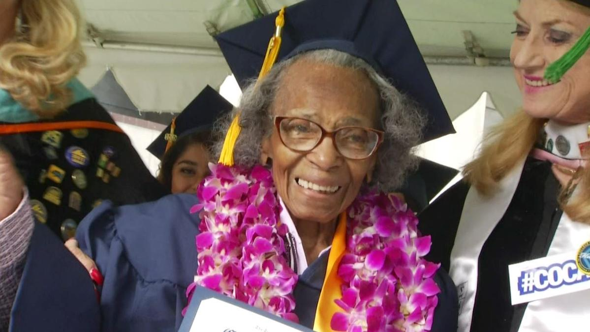 """Dream come true"": 99-year-old accomplishes goal of earning college degree before turning 100 http://t.co/IMJslOxV6I http://t.co/03zldjcYyc"