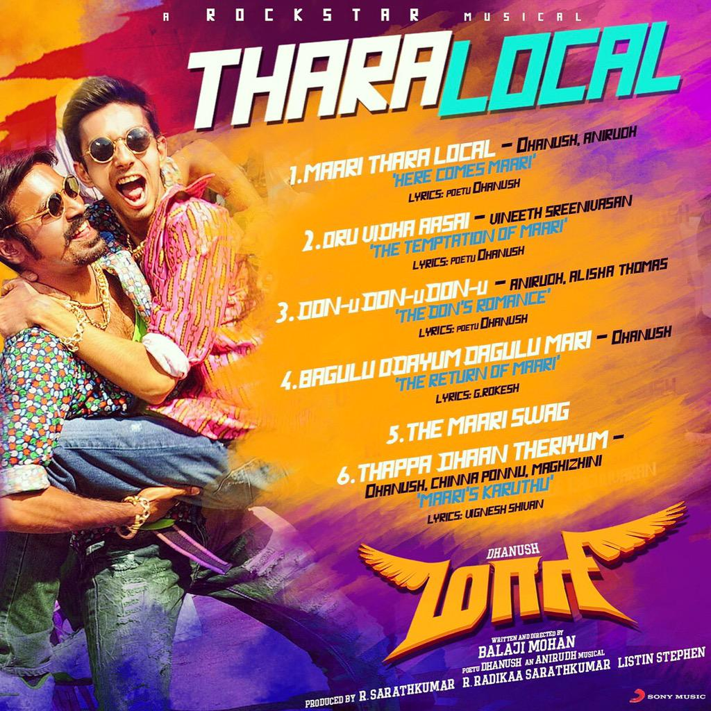 Dhanush's Maari - Thara Local Audio is out