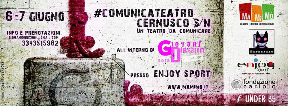 #GD15 pronti ad accogliere partecipanti e ospiti di #comunicateatro  @fattiditeatro @CompagniaMaMiMo @Funder35 http://t.co/H9eycrlFSz
