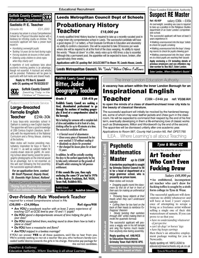 jake archibald on twitter quotthese teacher adverts from