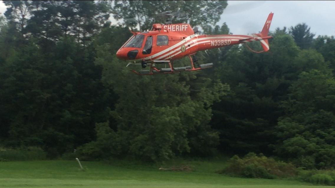 We have lift off. Erie Co Sheriff's helicopter takes off from @nyspolice Amity barracks #nyprisonbreak @wgrz http://t.co/AstWUIsKEx