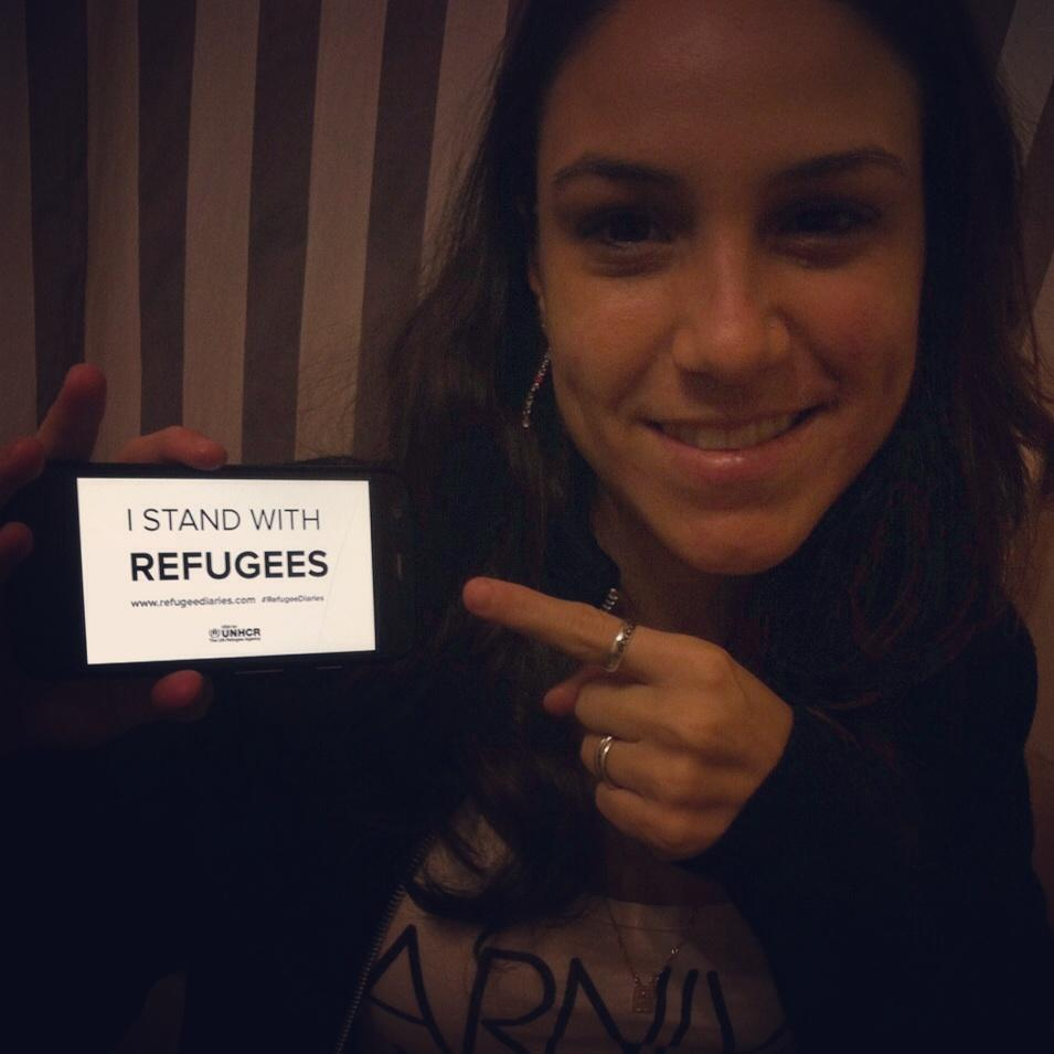I stand with refugees. #refugeediaries @KatGraham @Refugees http://t.co/s8Jmam0PFt
