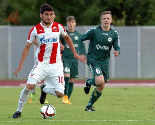 Avramovski during Saturday's match