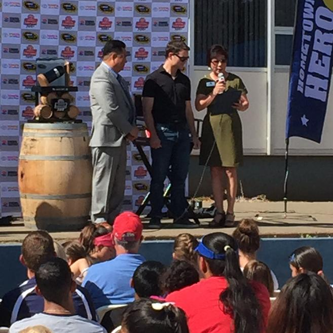 The city of @vallejo designates June 20, 2015 #jeffgordon day at the grade school he attended in Vallejo http://t.co/bWnX0A45L1