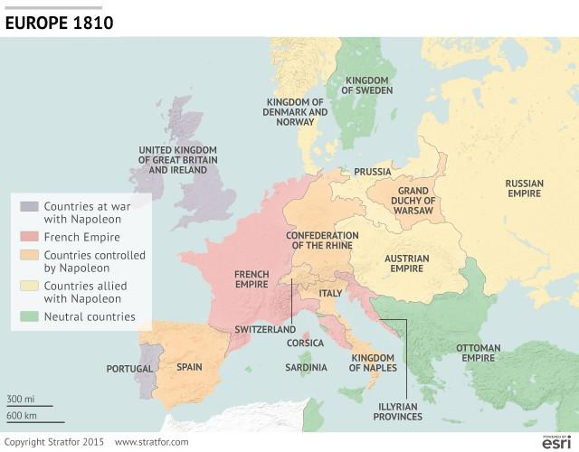 Stratfor On Twitter Wondering What Europe Looked Like Back In 1810