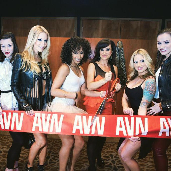 #TBT @Fleshlight Girls cutting the ribbon at the 2013 @AEexpo! #AVNShow #AVN #FleshlightGirls I luv this
