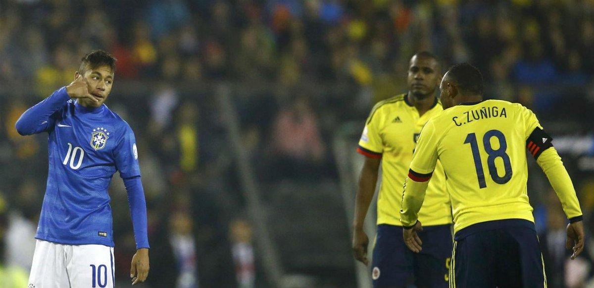 Neymar para Zuñiga: 'Depois me liga para pedir desculpas, filho da p...'. Vídeo http://t.co/2xDLQsWpGF