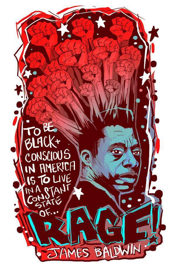 James Baldwin illustration by John Ira Jennings