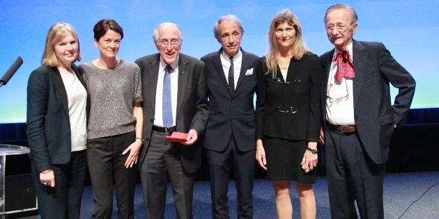 #ESPCI in Toulouse #CochlearImplant pioneers Graeme Clarke, Ingeborg Hochmair and Prof. Chouard received an award.<br>http://pic.twitter.com/M4CEXCrbiT