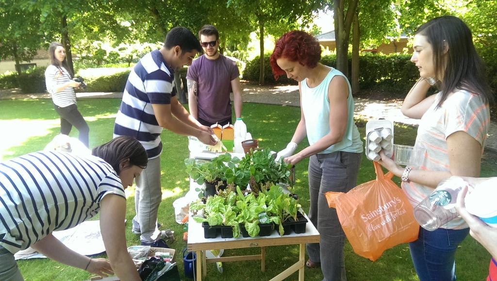 We're busy planting veg and herbs for #BusinessGreenWeek in the sun, this is what Friday's are all about! http://t.co/ojG1t5U3n2