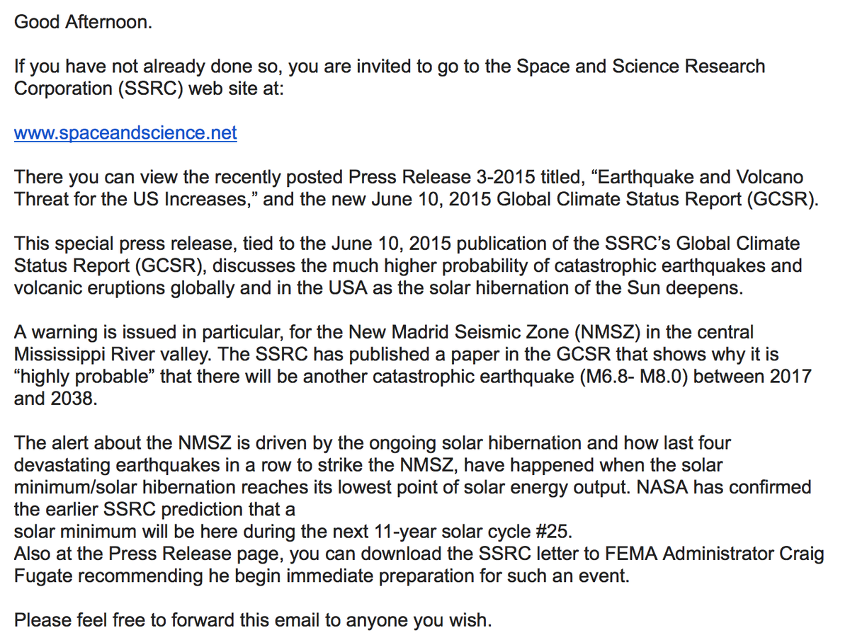 via John Casey: Space & Science Research Corporation (SSRC) http://